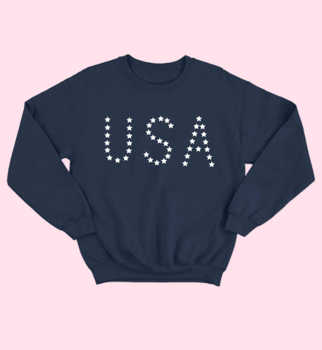 USA Stars Graphic Sweatshirt