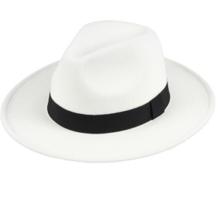 Winnie Black & White Classic Panama Hat