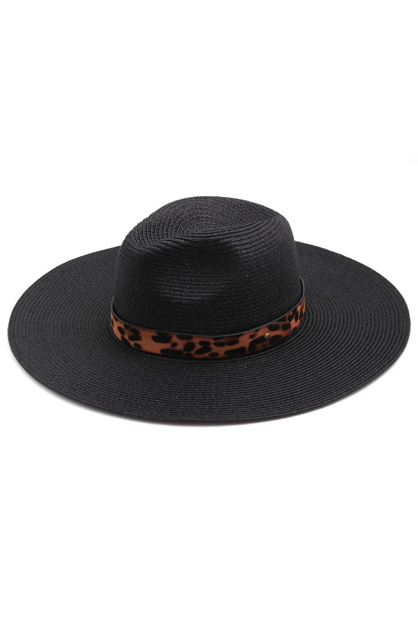 Black // Lounging by the Pool Leopard Hat