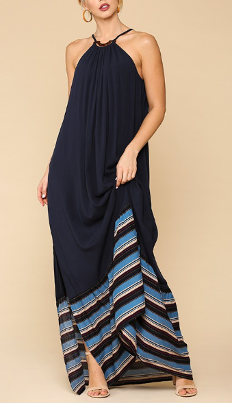 Resort Ready Halter Neck Maxi Dress