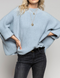 Winter Blues Mock Neck Sweater