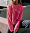 Hot Pink Boy Mama Sweatshirt