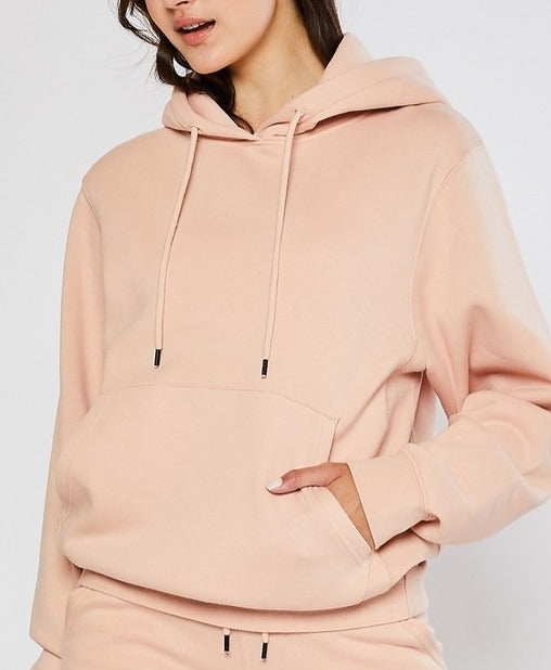 Salmon // GiGi Boyfriend Fit Fleece Pullover Hoodie