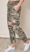 Always in Charge Distressed Camo Pants