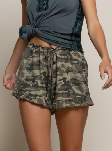 Protocol Cozy Camo Knit Shorts