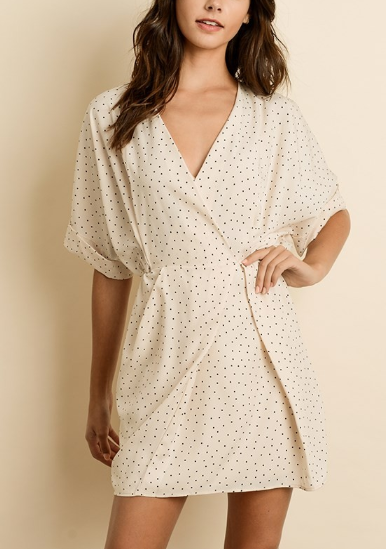 Clara Belle Cream Polka Dot Dress