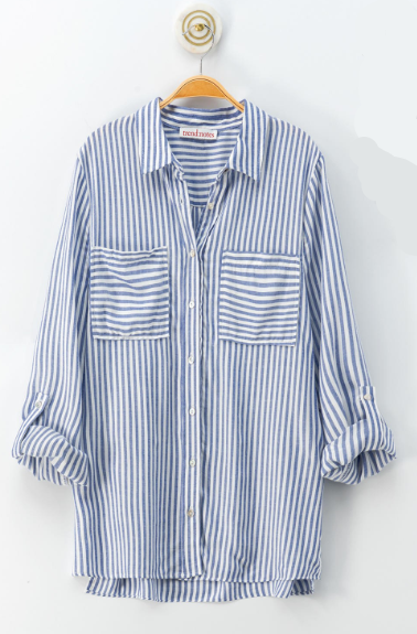 Cover Me Up Baby Stripe Button Down Shirt