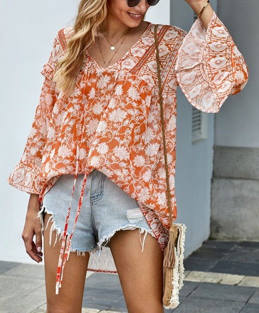 Make Her Mine Floral Boho Blouse