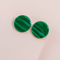 Emerald Forrest Circle Earrings