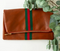Preppy Stripe Fold Over Clutch // Green & Red Stripe
