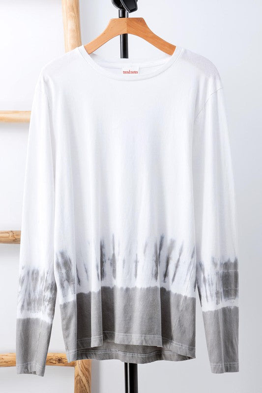 Saltwater Cotton Tie Dye Dipped Long Sleeve Top