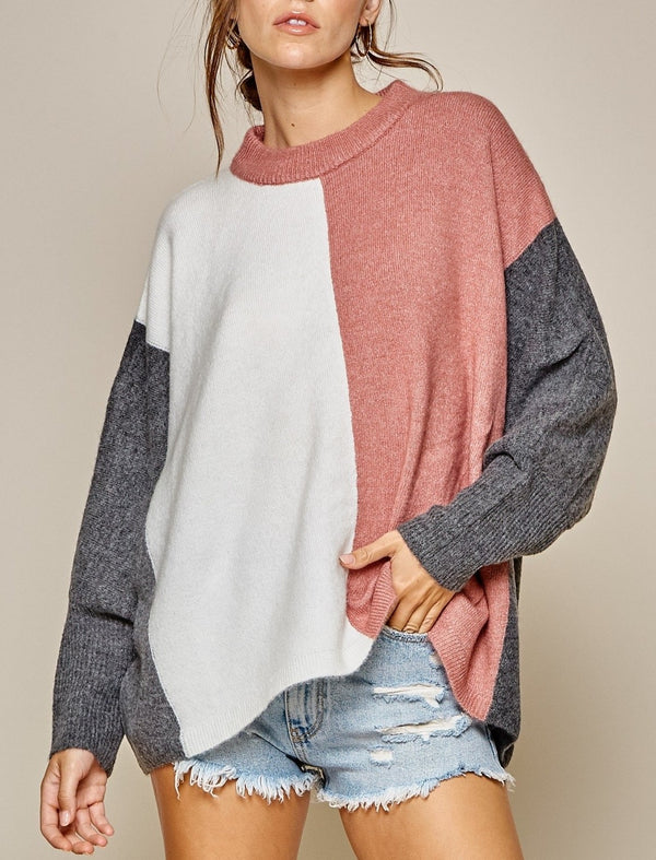 Mavin Color Block Sweater