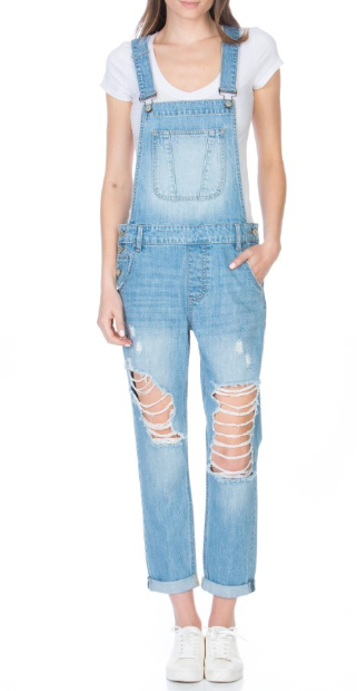The Kate Boyfriend Distressed Overalls