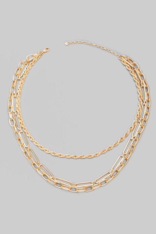 Gold Assorted Layer Chain Necklace