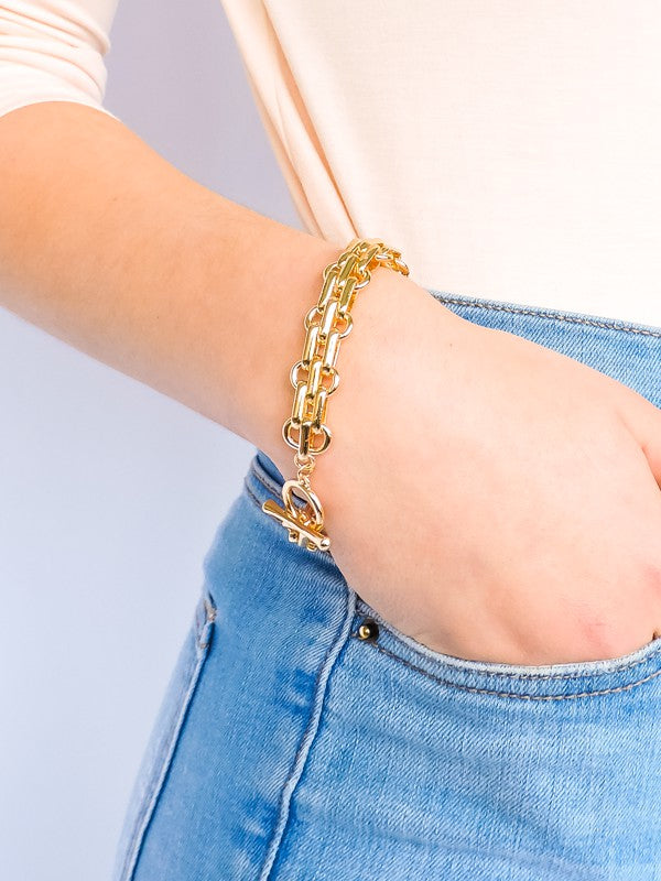 Classic Toggle Chain Link Bracelet