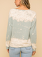 Why Knot Mint Front Tie Distress Washed Sweatshirt