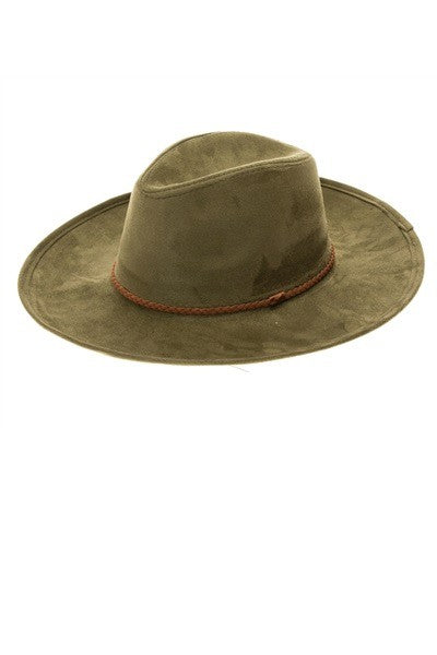 Olive You so Much Wide Brim Suede Hat
