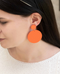 En Vogue Orange Dangle Earrings