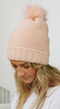 Snow Day Sherpa Lined Pom Beanie - 3 COLORS