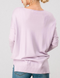 Lavender Color Me Spring Soft High-Low Sweater