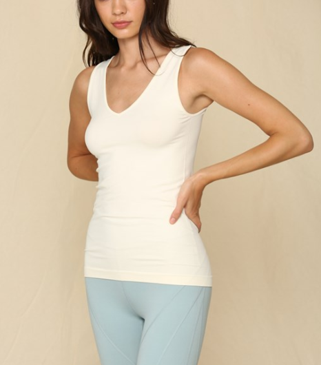 Ivory // Get Up and Go Seamless Tank