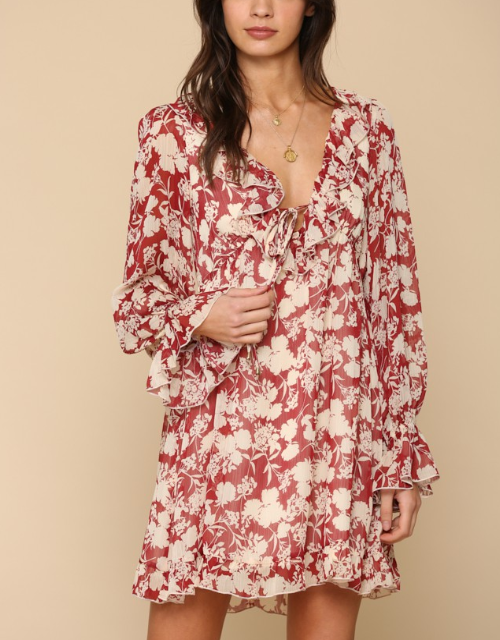Seasons Change Chiffon Dress
