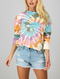 Good Vibes Tie Dye Swirl Long Sleeve Pullover