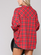 Red Plaid // Take Me Out West Oversized Plaid Button Down