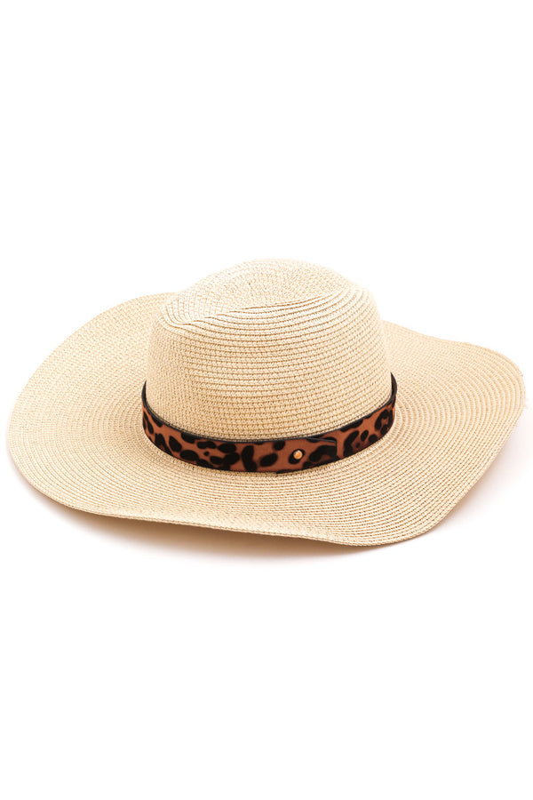 Ivory // Lounging by the Pool Leopard Hat