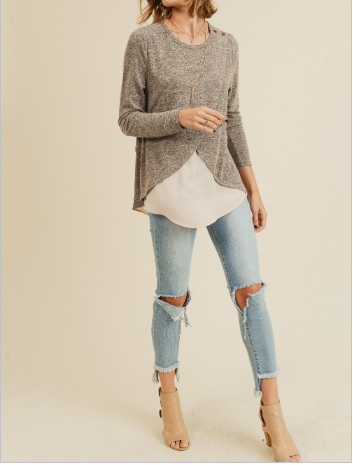 Thoughts of You Layered Top