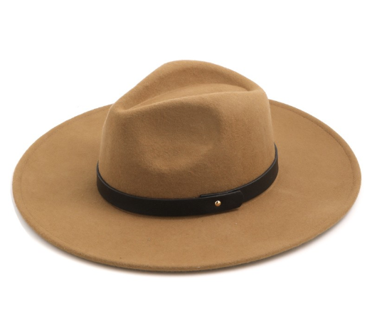 Montana Wool Wide Brim Hat // Black or Brown
