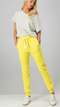 Sunshine Days Cotton Blend Bright Yellow Pocket Joggers