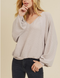 You be You Ribbed Waffle Knit Top - Off White or Taupe
