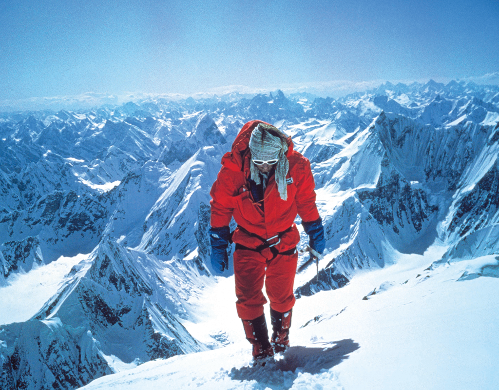 Andy Parkin ascends Broad Peak, 8047m, 1983