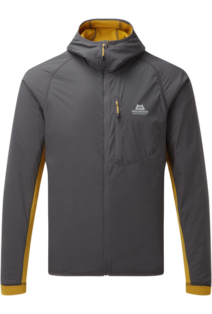 Lightweight 20D RS Nylon outer fabric with mechanical stretch on body; highly breathable and wind resistant