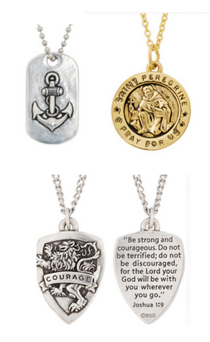 Christian Jewelry Catholic Madonna Miraculous Medals Saints Jesus Pendants Sterling silver