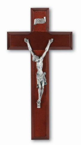 Dark Cherry Wood Jesus Wall Crucifix