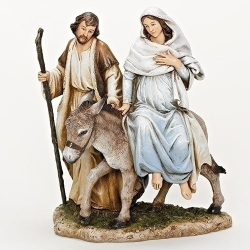 La Posada Figure Joseph with Mary Riding on Donkey on their way to Bethlehem