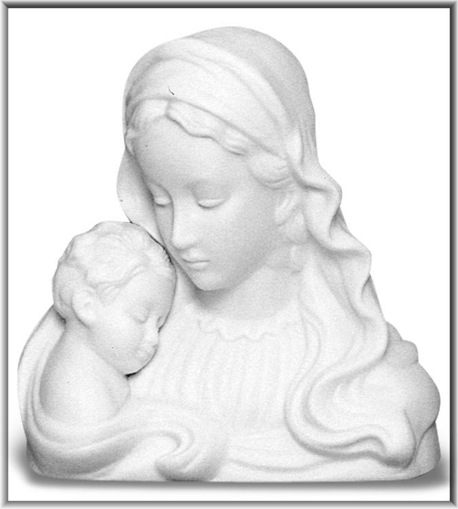 Madonna and child porcelain night light