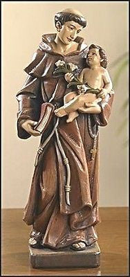 Saint Anthony Statue  with Jesus Christ Child  - Toscana Collection