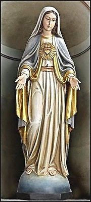 "Immaculate Heart of Mary Val Gardena Church statue   53 1/4"" Tall"