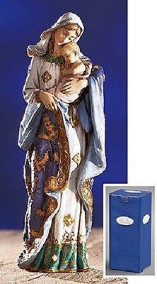 Adoring Madonna and child Hand painted Statue   Ave Maria Collection