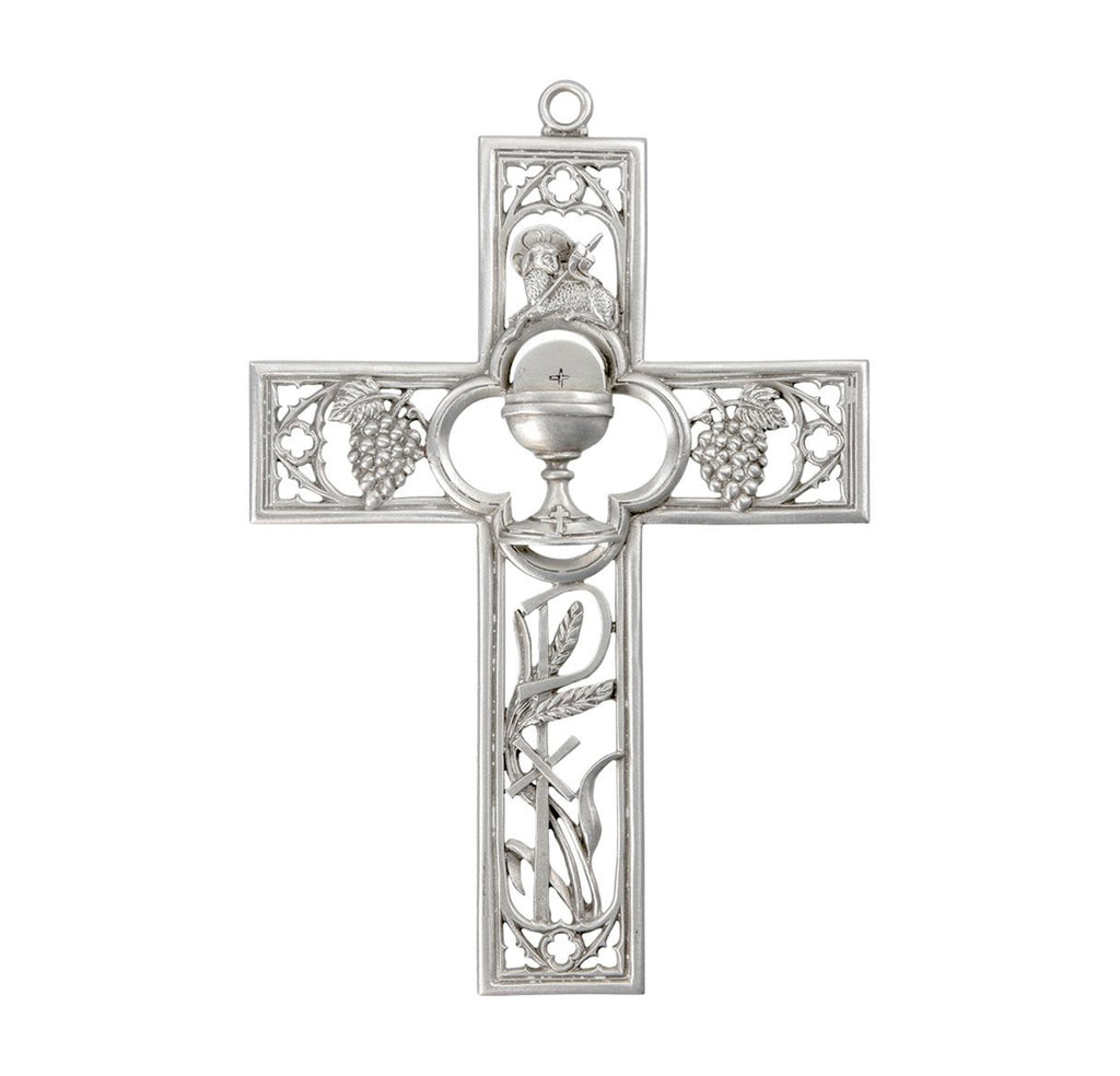 Pewter communion gift cross 6 inch