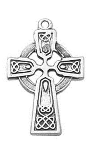 Sterling Silver Celtic Cross Baby Pendant