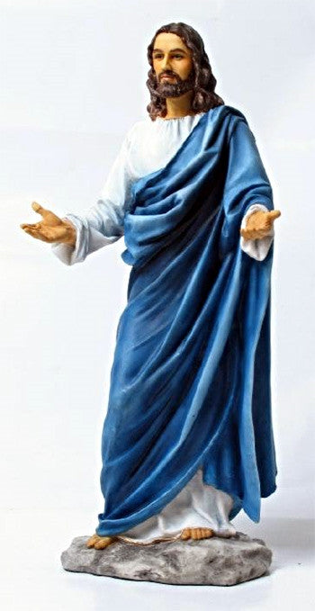 Welcoming Jesus Christ Statue Hand Painted full color   Veronese collection