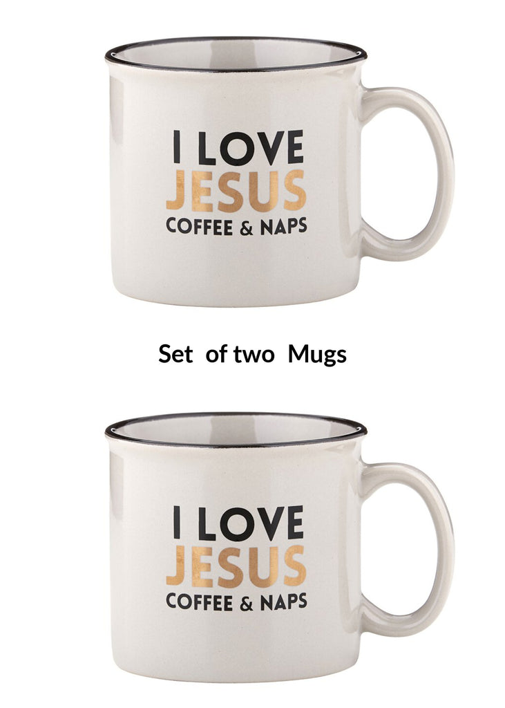 Set of 2 I love Jesus Coffee and Naps mugs
