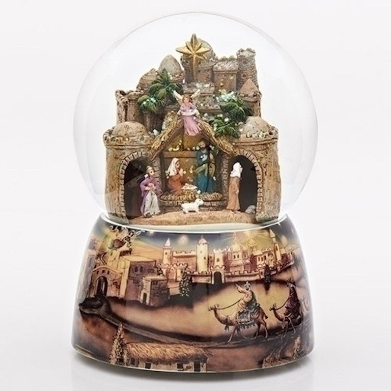 Bethlehem Musical Nativity Scene Musical Water Globe With Moving Kings Plays O Little Town Of Bethlehem