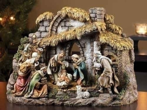 10 Piece Nativity Set With Baby Jesus And Kings Joseph Studio Christmas Collection