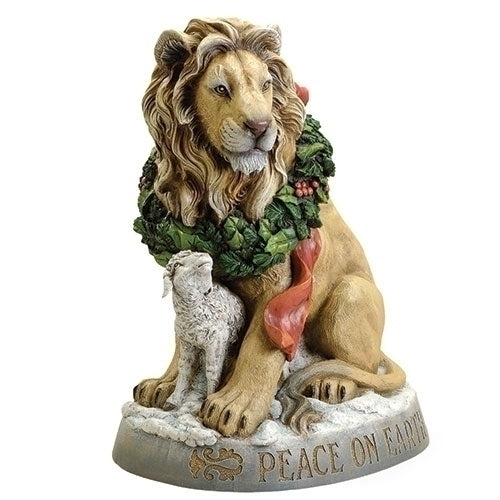 "Lion And Lamb  Peace On Earth Christmas Statue  Josephs Studio 19.5"" Tall SOLD OUT COMING SOON"