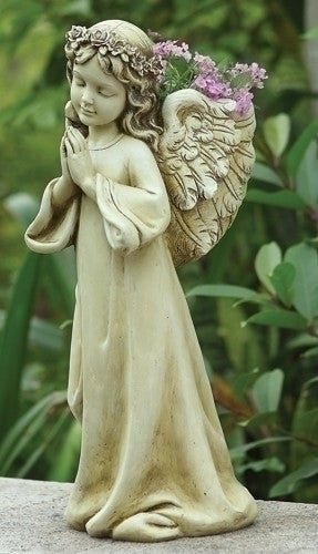 "Angel Child Planter Garden Or Home Joseph Studios 16"" Tall"